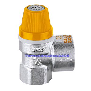 """... 253046 Safety relief valve for solar thermal systems DN1/2"""" - 3/4""""F"""