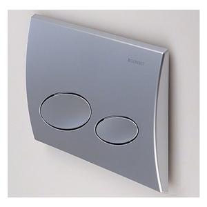 geberit kappa20 115 228 46 1 flush plate matt chrome ebay. Black Bedroom Furniture Sets. Home Design Ideas