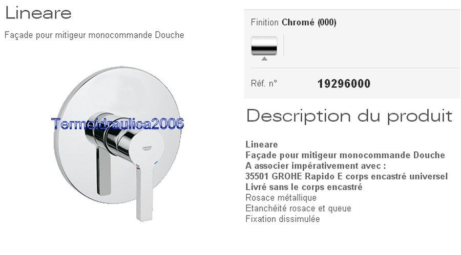 grohe lineare 19296000 sans corps encastr mitigeur douche encastr ch ebay. Black Bedroom Furniture Sets. Home Design Ideas