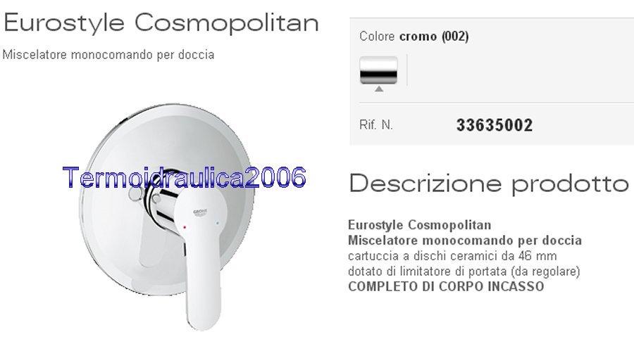 GROHE EUROSTYLE COSMOPOLITAN 33635002 Miscelatore doccia ...
