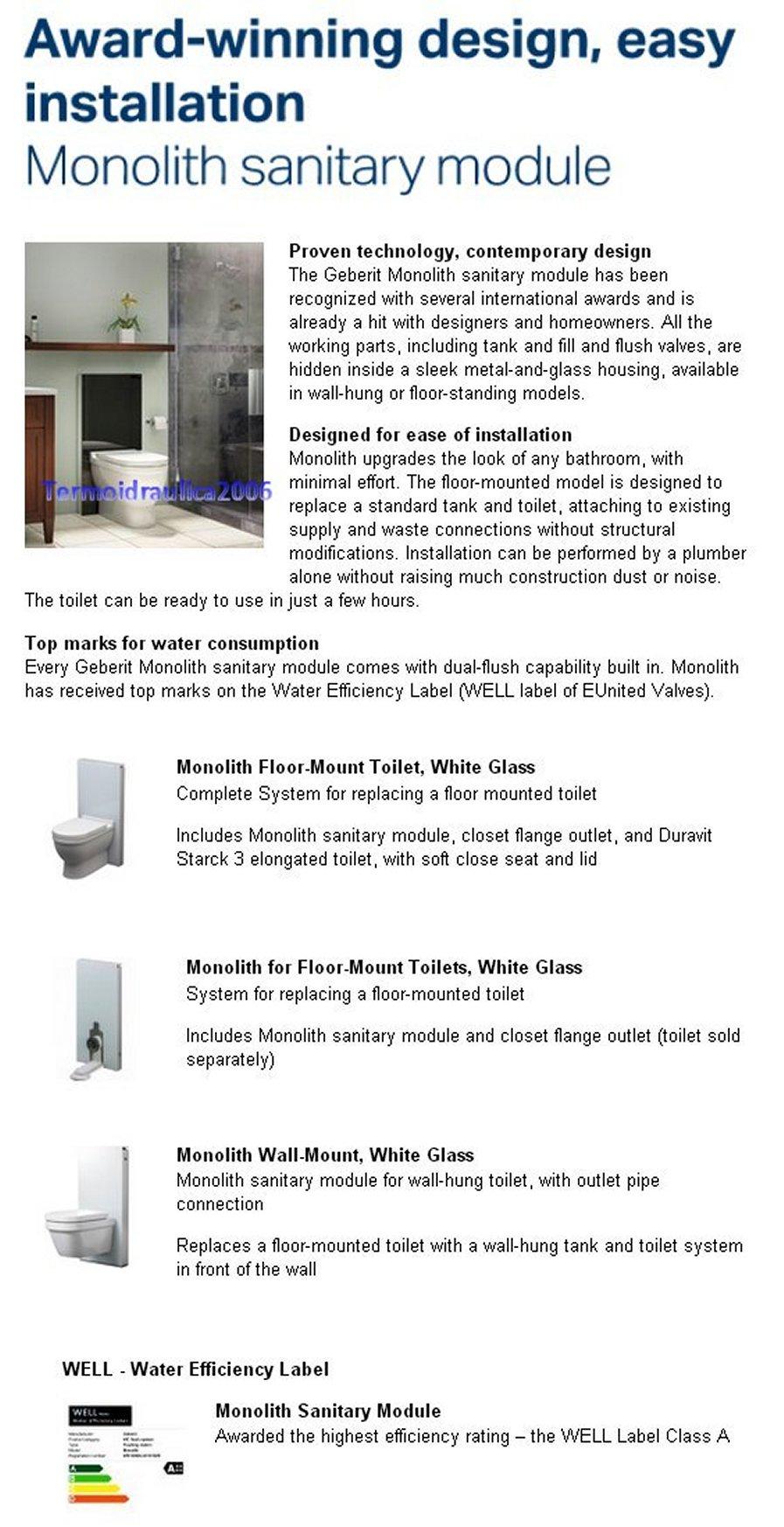 Geberit Monolith 131 030 Si 1 Monolith Sanitary Module Z1