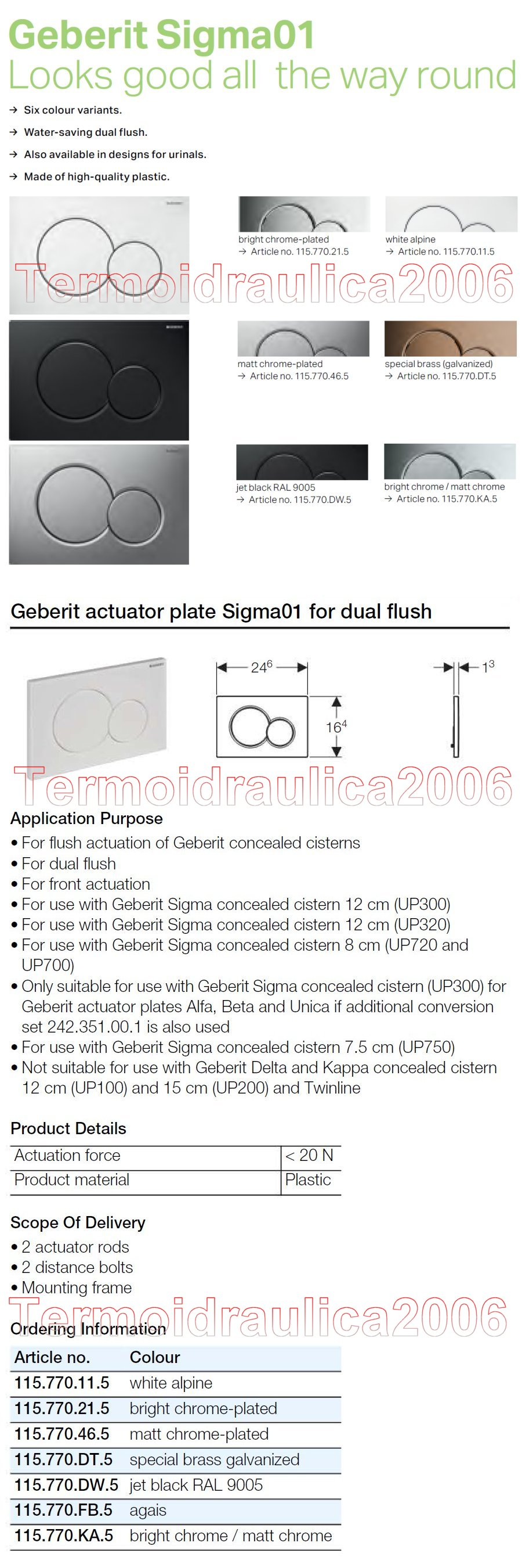 geberit sigma01 plate for dual actuators. Black Bedroom Furniture Sets. Home Design Ideas