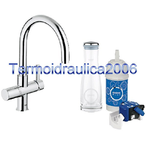 grohe blue 33249000 miscelatore lavello bocca girevole sistema filtrante cr ebay. Black Bedroom Furniture Sets. Home Design Ideas