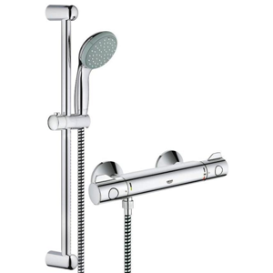 grohe 34565000 grohtherm 800 thermostatic shower mixer 1 2 with shower set ebay. Black Bedroom Furniture Sets. Home Design Ideas