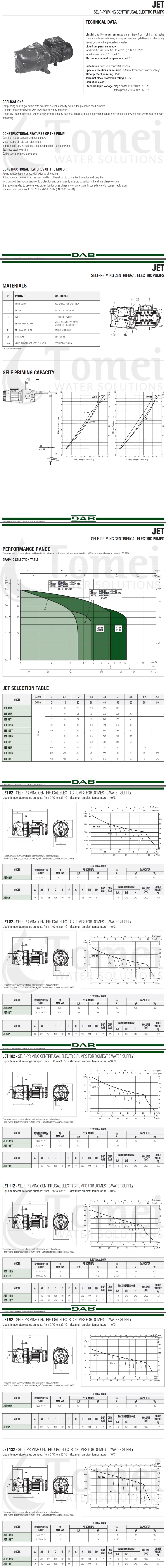 Data sheet DAB JET 132 M
