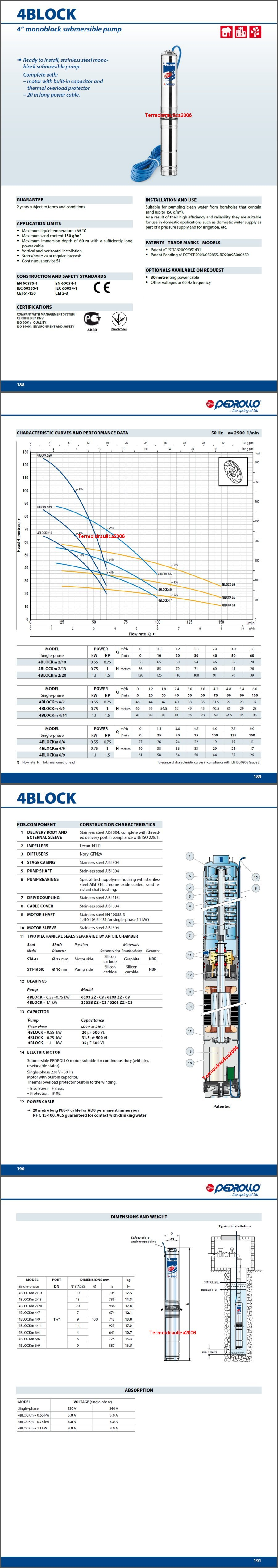 Data Sheet Pedrollo 4BLOCK