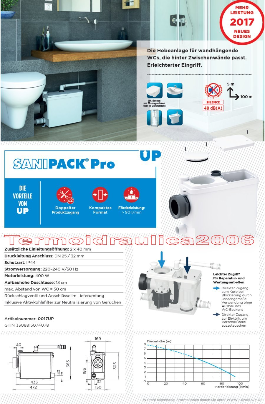 sfa sanibroy sanipack pro up wc hebeanlage abwasserhebeanlage ebay. Black Bedroom Furniture Sets. Home Design Ideas